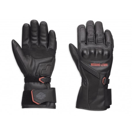 harley davidson messenger leather gauntlet gloves 98360 17em. Black Bedroom Furniture Sets. Home Design Ideas