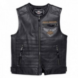 Gilet cuir Harley Davidson