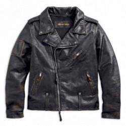 Blouson moto en cuir à coupe cintrée Master Distressed Harley Davidson