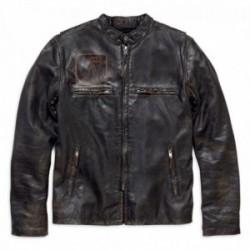 Blouson en cuir à coupe cintrée Speed Distressed Harley Davidson