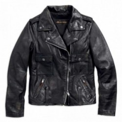 Blouson moto Wild Distressed Leather Harley Davidson